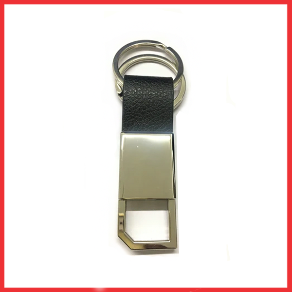 Best Quality Metal Plus Leather Keychain.