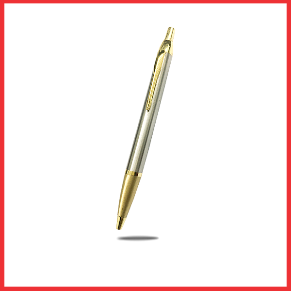Silver And Gold Pure Metal Executive Pen.
