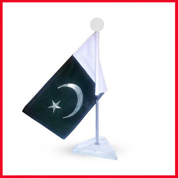 Executive Table Stand Metal Base With Pakistan Flag