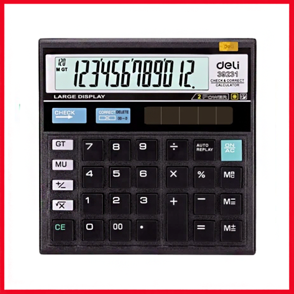 Deli E39231 120-Check Calculator 12-Digit