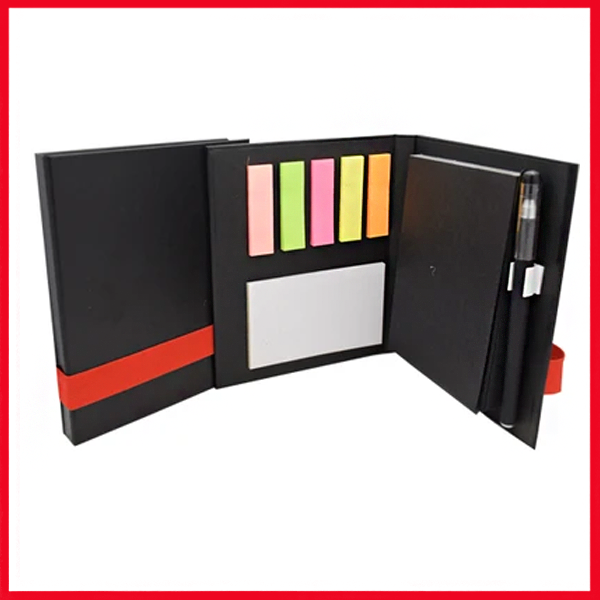 Excutive Organizer with Sticky Notes.