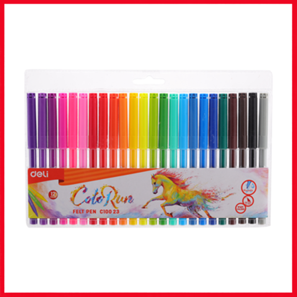 Deli School Felt Pen 24 Colors - EC10023
