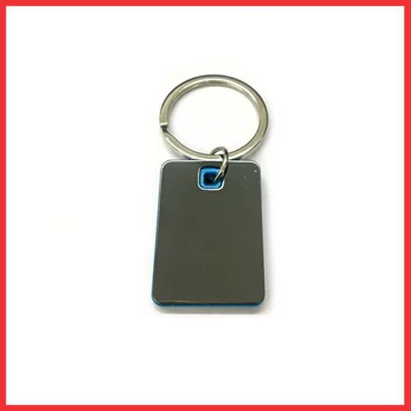 Square Shape Keychain With Highlights (Sky Blue Color)
