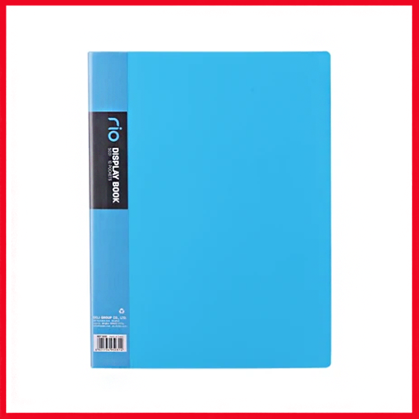 Deli E5037 Rio Display Book A4 (100,Pockets), (5,colors).