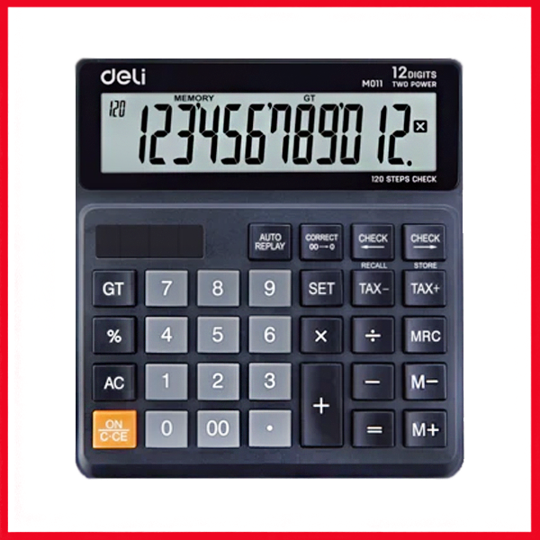 Deli EM01120 (120-Check), Tax Calculator 12-Digit