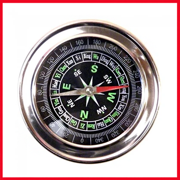 Stainless Steel Directional Magnetic Compass.