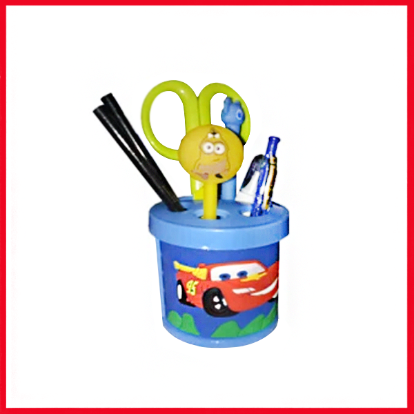 CAR Cartoon Pencil Holder - Pen Stand - Pen Holder