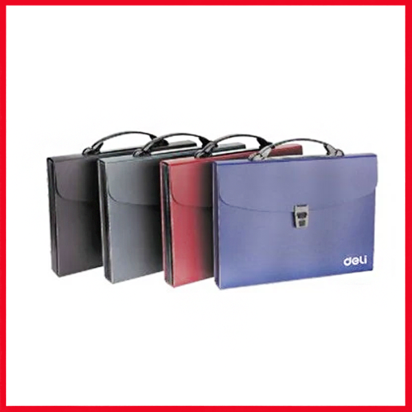 Deli Expanding File 13 Pocket, A4 (Handle/Index & Lock), (E5557),