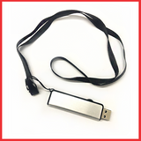 Silver And Black (16 GB, USB  With Nylon Strip  2.0), Flash Drive, Connect With PC.