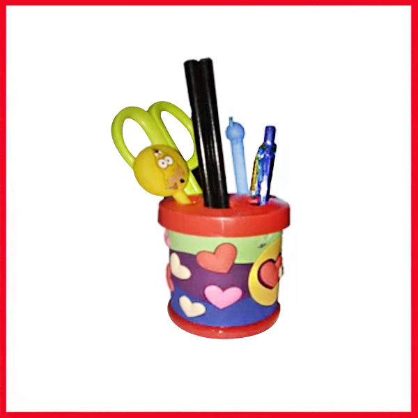 Heart Cartoon Pencil Holder - Pen Stand - Pen Holder.
