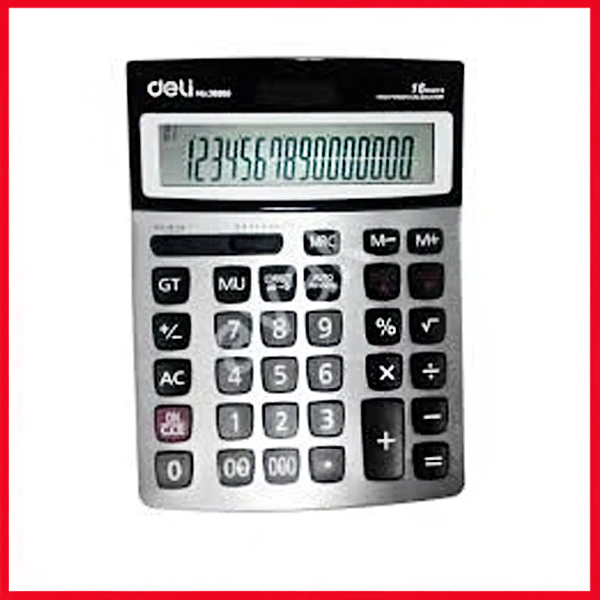 Deli Calculator (16,Digit), Check & Multifuncation (White), (E39265)