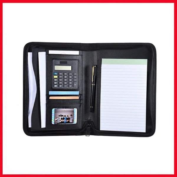 Leather Memo Pad Holder With Calculator