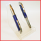 Silver And Blue Plastic  Executive Pens.