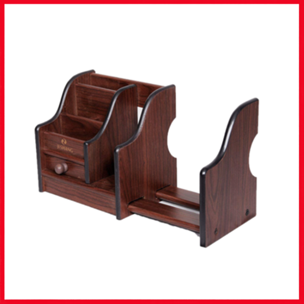 Wooden Desk Organizer - Pen Stand - Card Holder HX-1046.