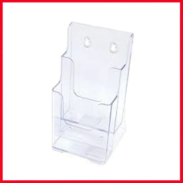 Brochure Holder - Display (Stand A4 1/3), Pack Of 2 (NOT A4), Konve K-151.