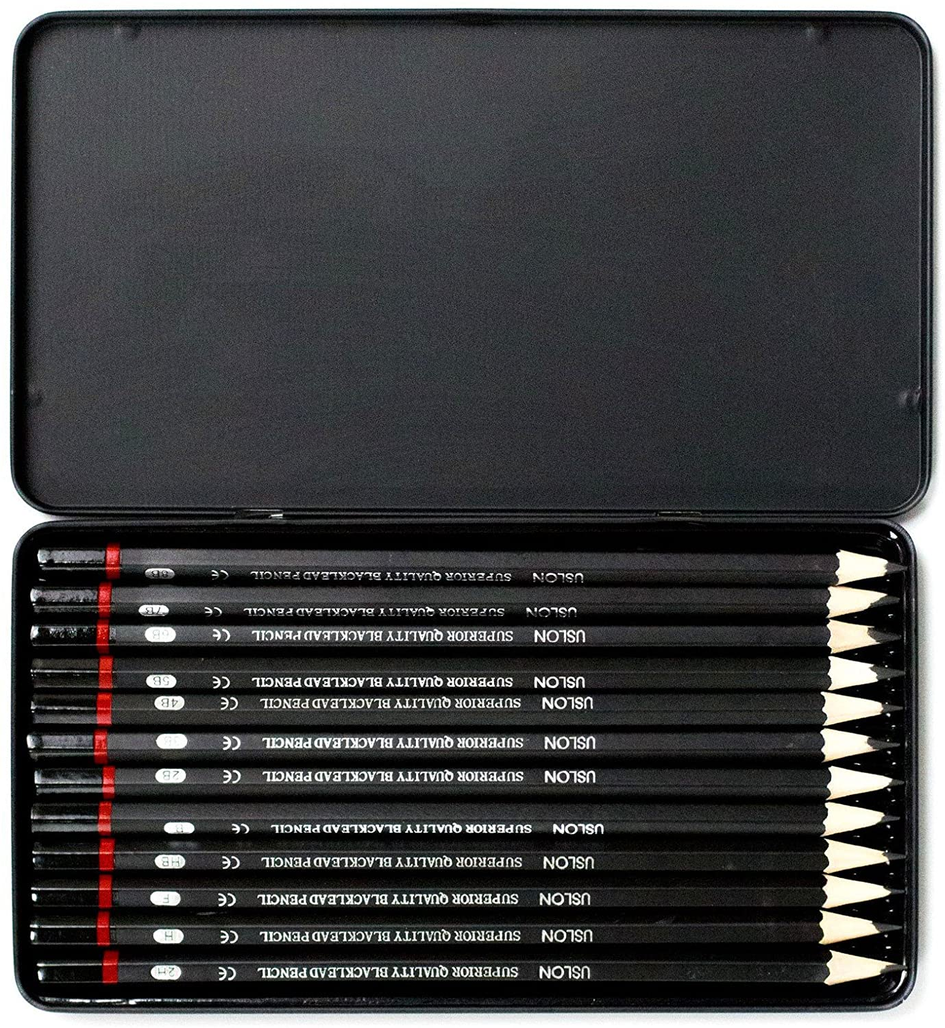 Uslon Graded Pencils 12 Pcs Box