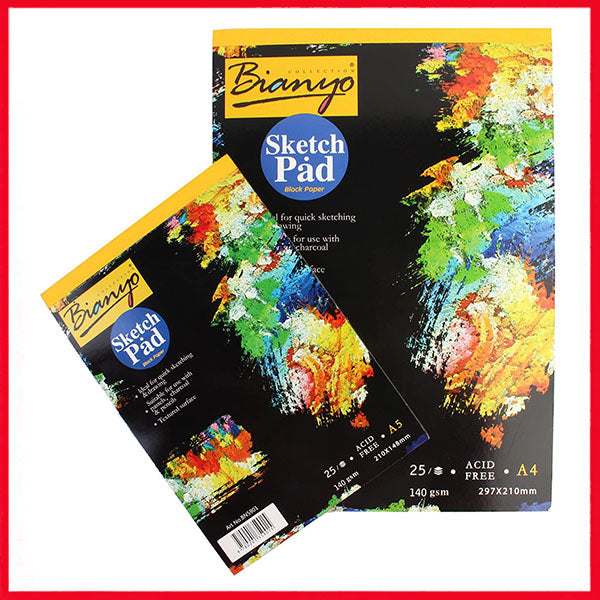 Bianyo Black Paper Drawing Sketch Pads A5/A4/A3