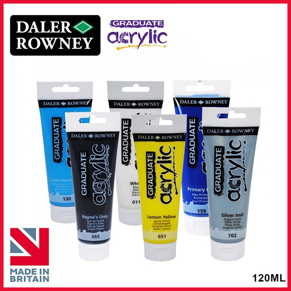 Daler Rowney Graduate Acrylic Paint Color Tube 120ML