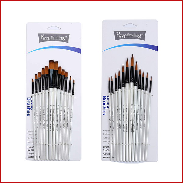 Keep Smiling Artist Brush 12 Pcs Set