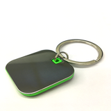 Square Shape  Keychain  With Highlights (Green Colour),