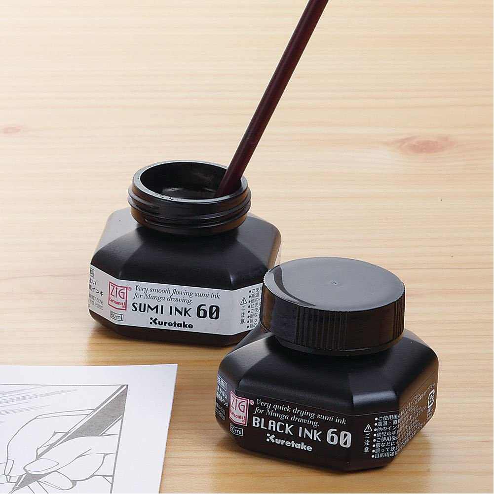Zig Cartoonist Sumi Drawing Ink 60ml Bottle
