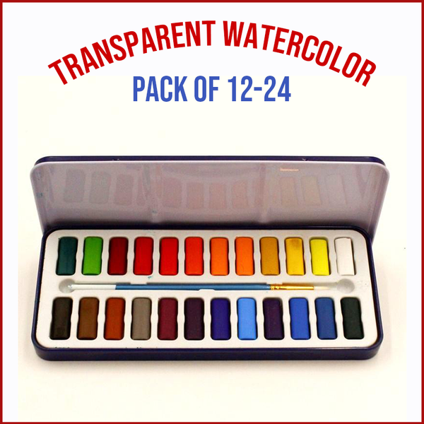 Nablon Transparent Watercolor Set With Brush