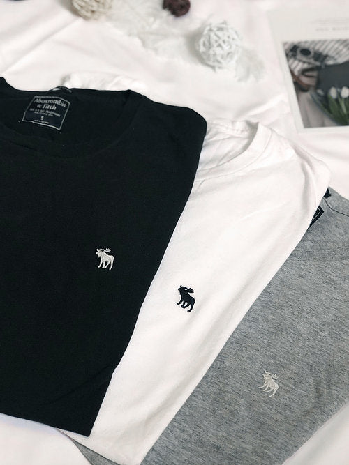 Men Cotton Small Logo Tee