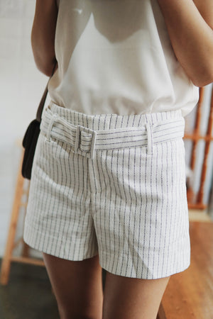 High Rise Belted Shorts