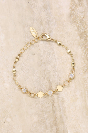 Juliana Link Bracelet with Crystal Accents