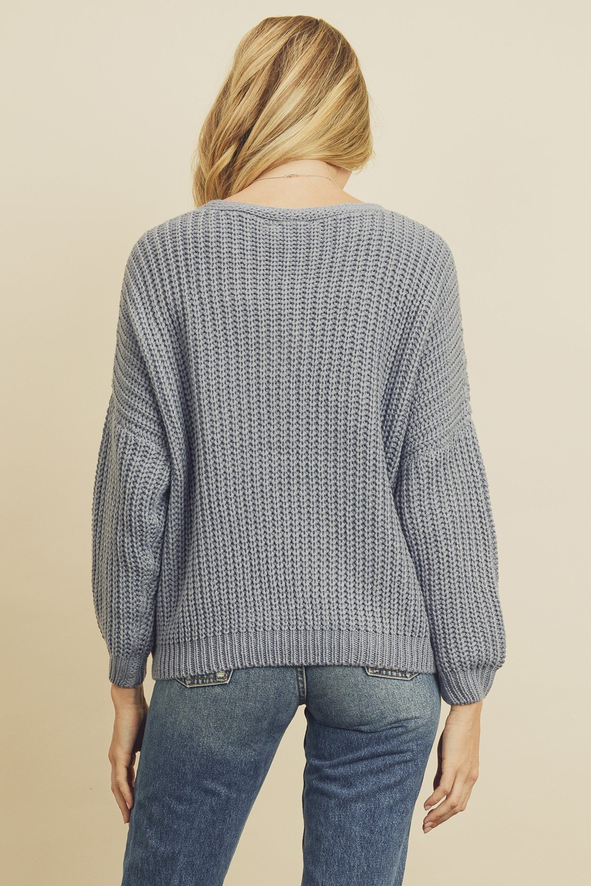 Chunky Knit Pocket Cardigan