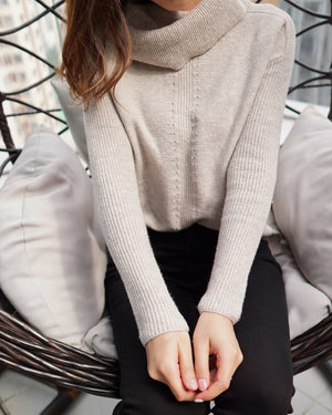 Petite Cozy Cowl Neck Sweater