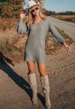 Ribbed Sweater Dress