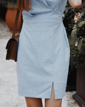 Chambray Sheath Dress