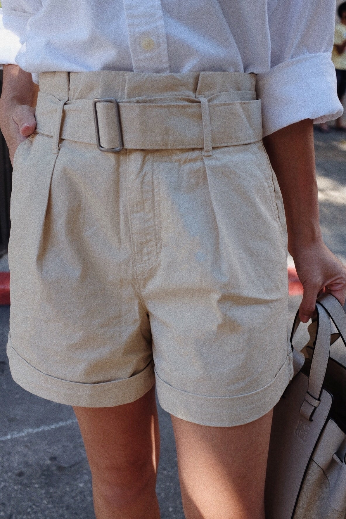 Belted Chino Shorts