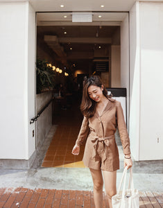 Button Down Shirt Romper