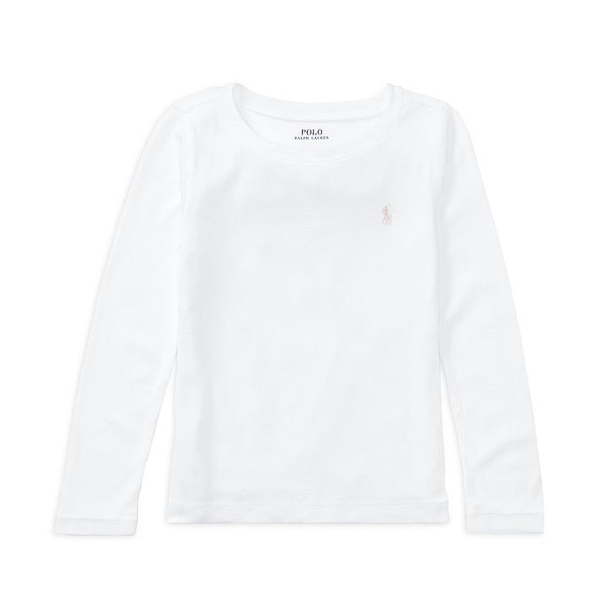 Girls Long Sleeve Logo Top
