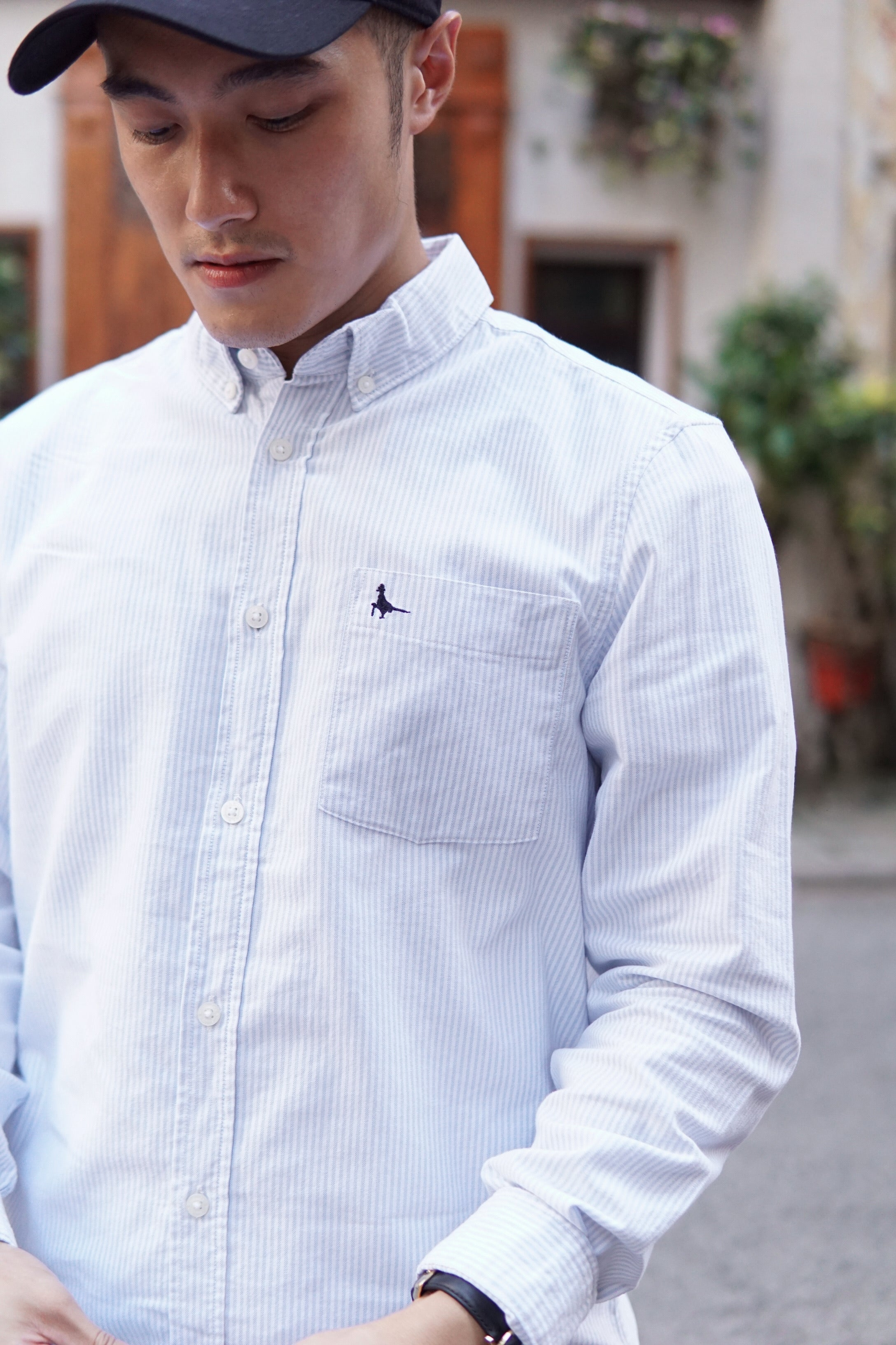 Men Oxford Striped Shirt