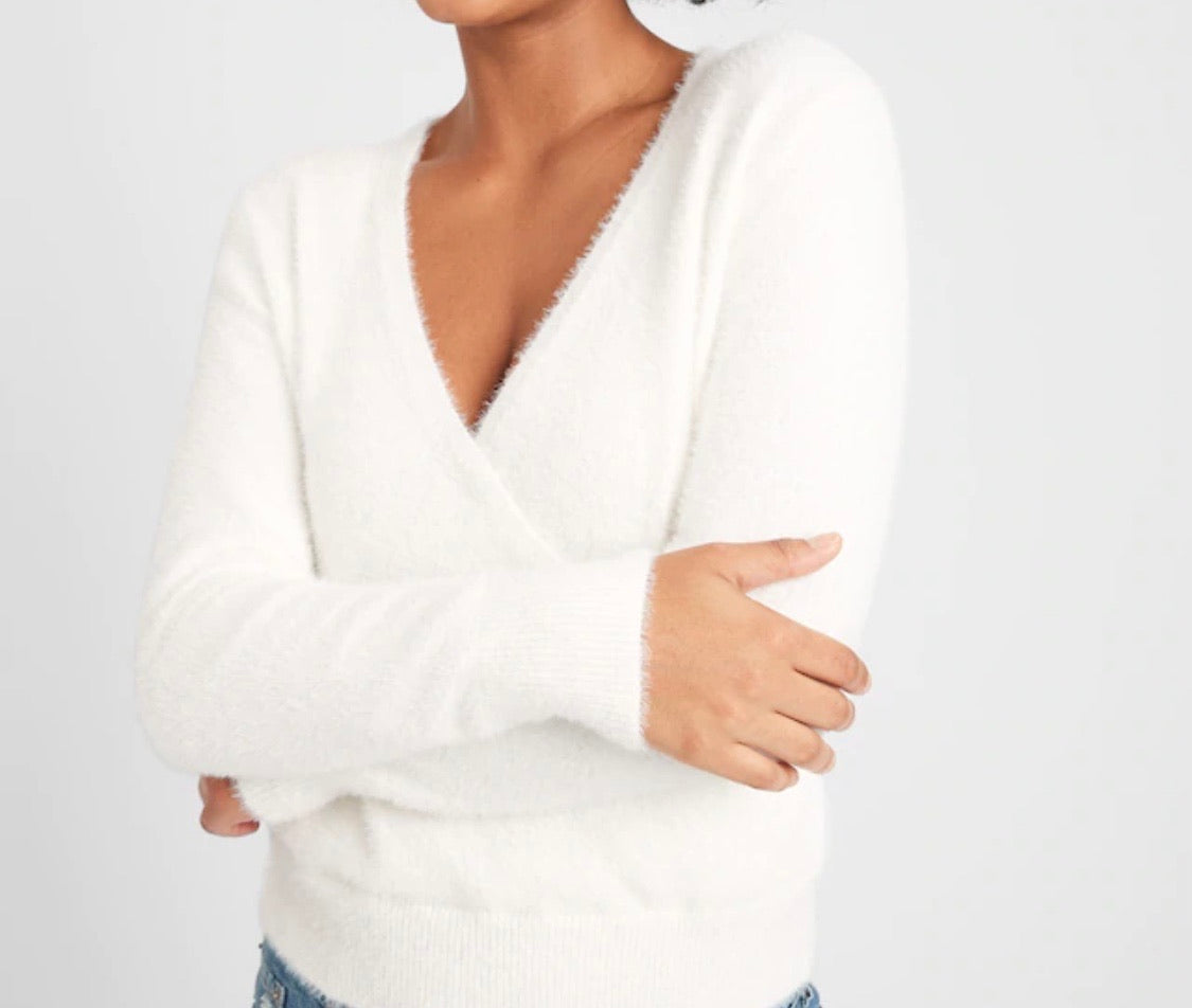 Eyelash Wrap Sweater