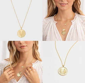 Palm Coin Necklace