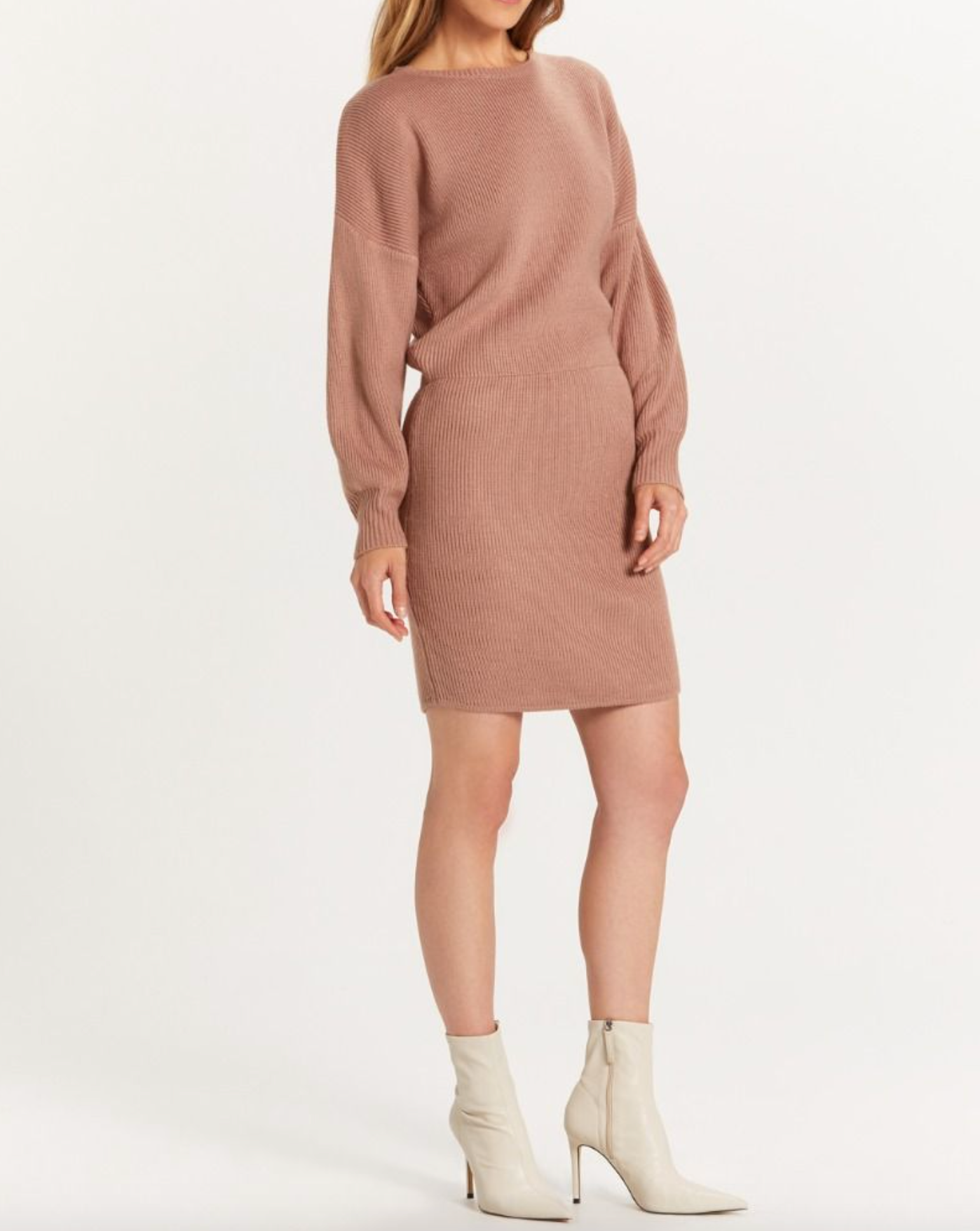 Alice Ribbed Sweater Dress