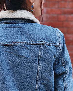 Women Sherpa Denim Jacket