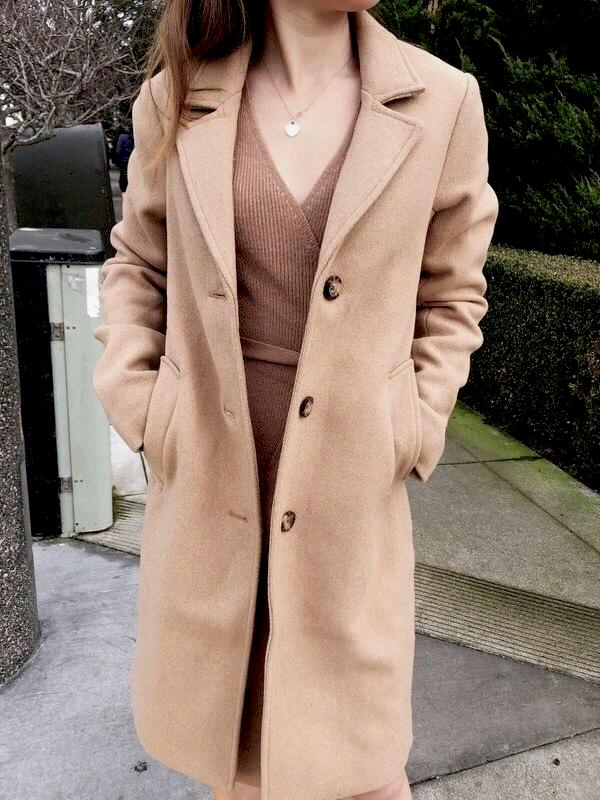 Wool-Blend Dad Coat