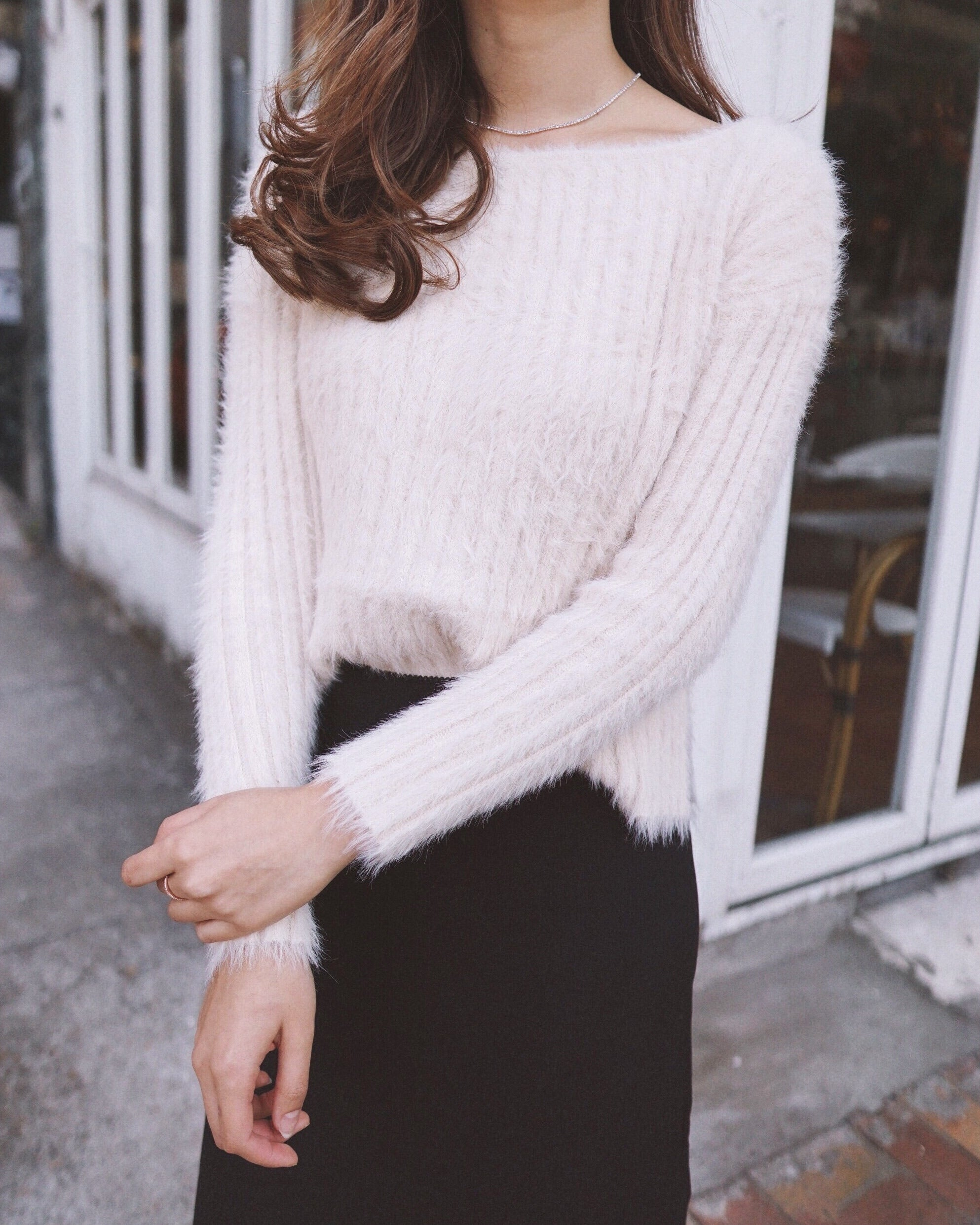 Cloud Nine Fuzzy Ribbed Sweater