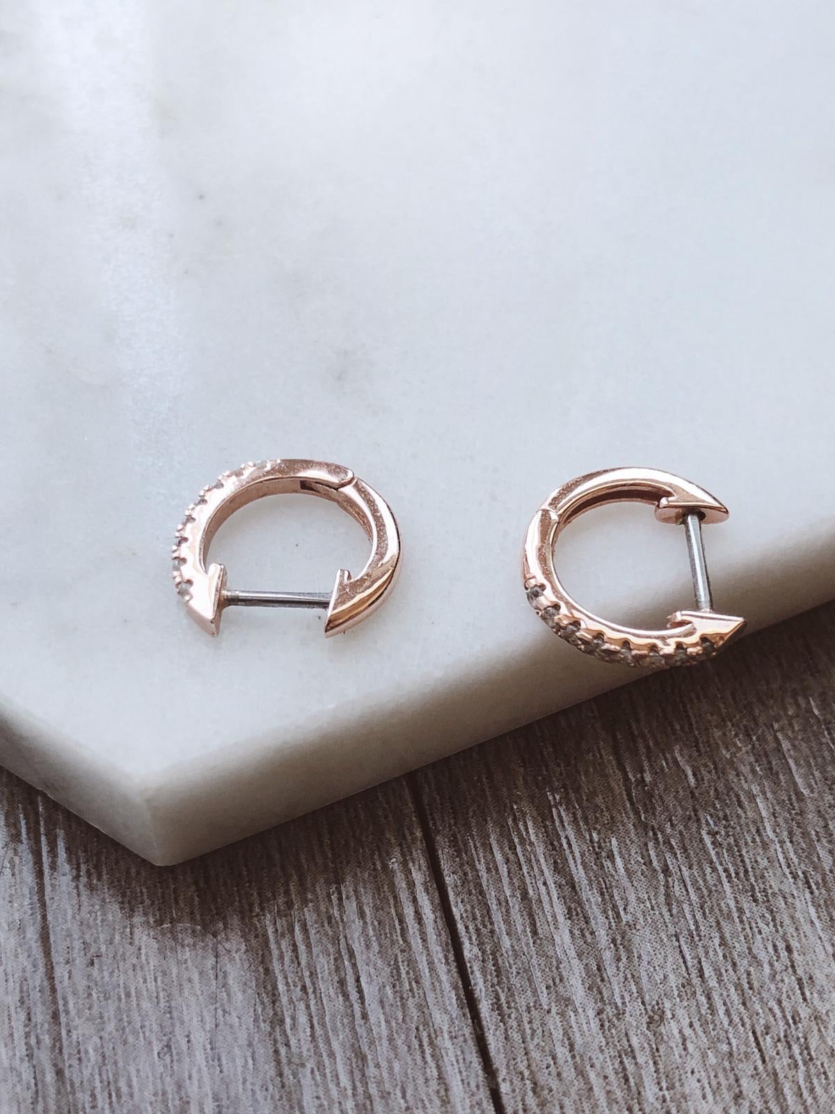 14K GOLD PLATED EARRING