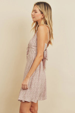 Ditsy Floral Tie-Accent Dress