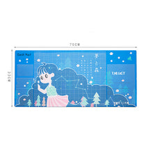 Laden Sie das Bild in den Galerie-Viewer, Cute Mice Pad Office Gaming Computer Desk Mat Modern Table Waterproof PU Laptop Cushion Multifunction Writing Desk Pad 70x30CM