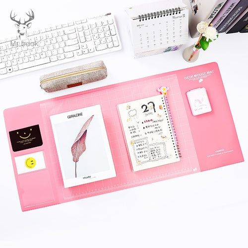 Candy Colors Kawaii Writing Pads Large Desk Mat Learning Pad Office Mats Desk Accessories Waterproof PVC Desk Organizer Set