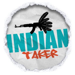 Click Indian Taker logo to view his clothing