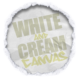 all shades and tones of white and cream canvas wall art
