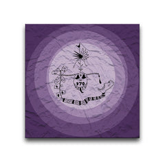Addiction Purple Wall Art